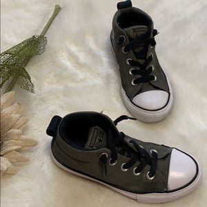 Converse army green boys high top chucks size 13